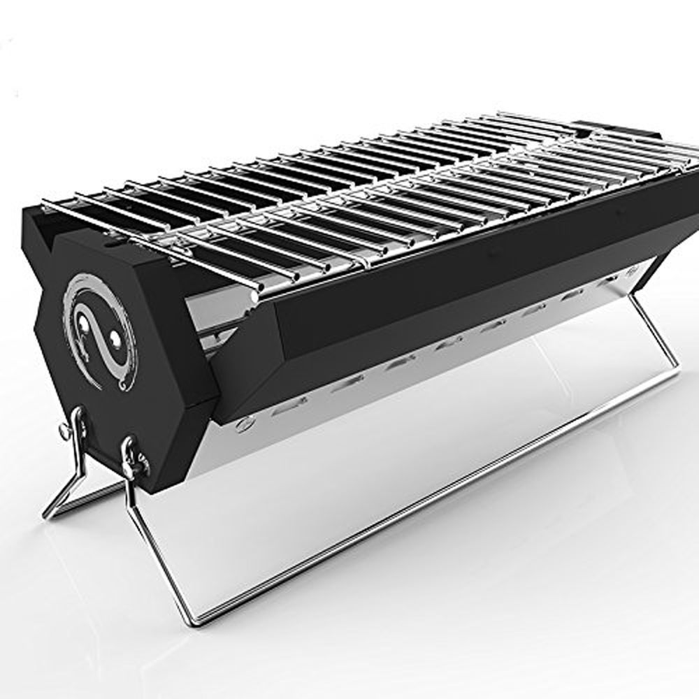 details about portable charcoal grill outdoor bbq backyard cooking