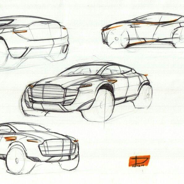 Aston Martin Sketch: Aston Martin Concept Copying