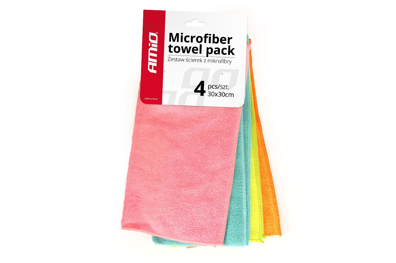 Aporrofhtiko Pani Mikronoiwn Amio Microfiber Towel Pack 30x30 Set 4 Temaxiwn 71245 Microfiber Towel Outdoor Blanket Microfiber