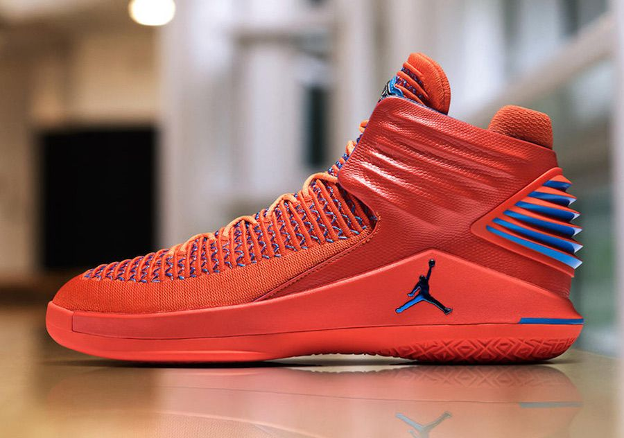 5a192bb9d5e0ad Russell Westbrook Debuts Air Jordan 32 PE for Thunder Media Day ...