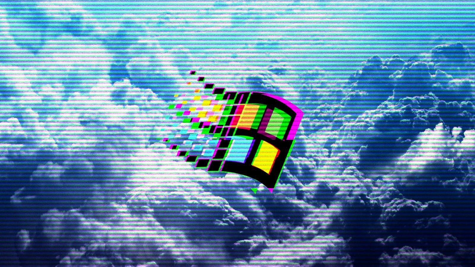 Vaporwave 1990s Windows 95 Windows 98 Clouds 720p Wallpaper Hdwallpaper Desktop Vaporwave Wallpaper Hd Wallpaper Vaporwave