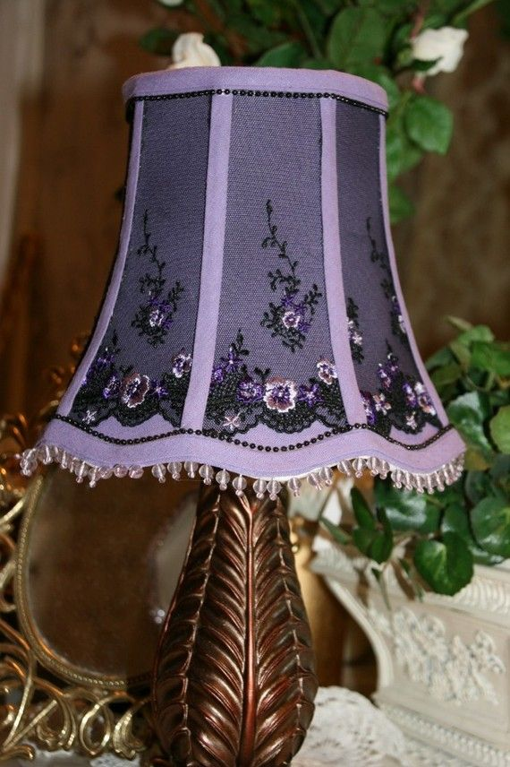 Lamp Shade Victorian Purple Passion Sheer By Thegoldenturtle 40 00 Victorian Lampshades Victorian Lamps Lamp