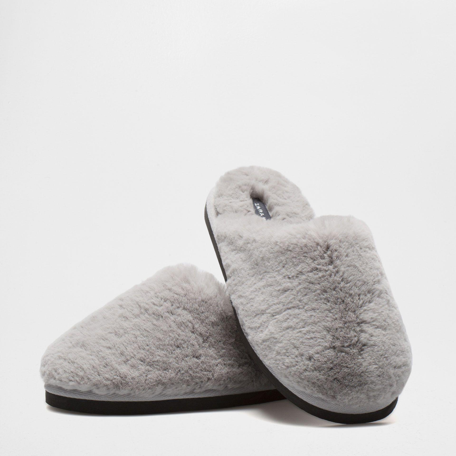 FAUX FUR SLIPPERS Woman Footwear Homewear | Zara Home