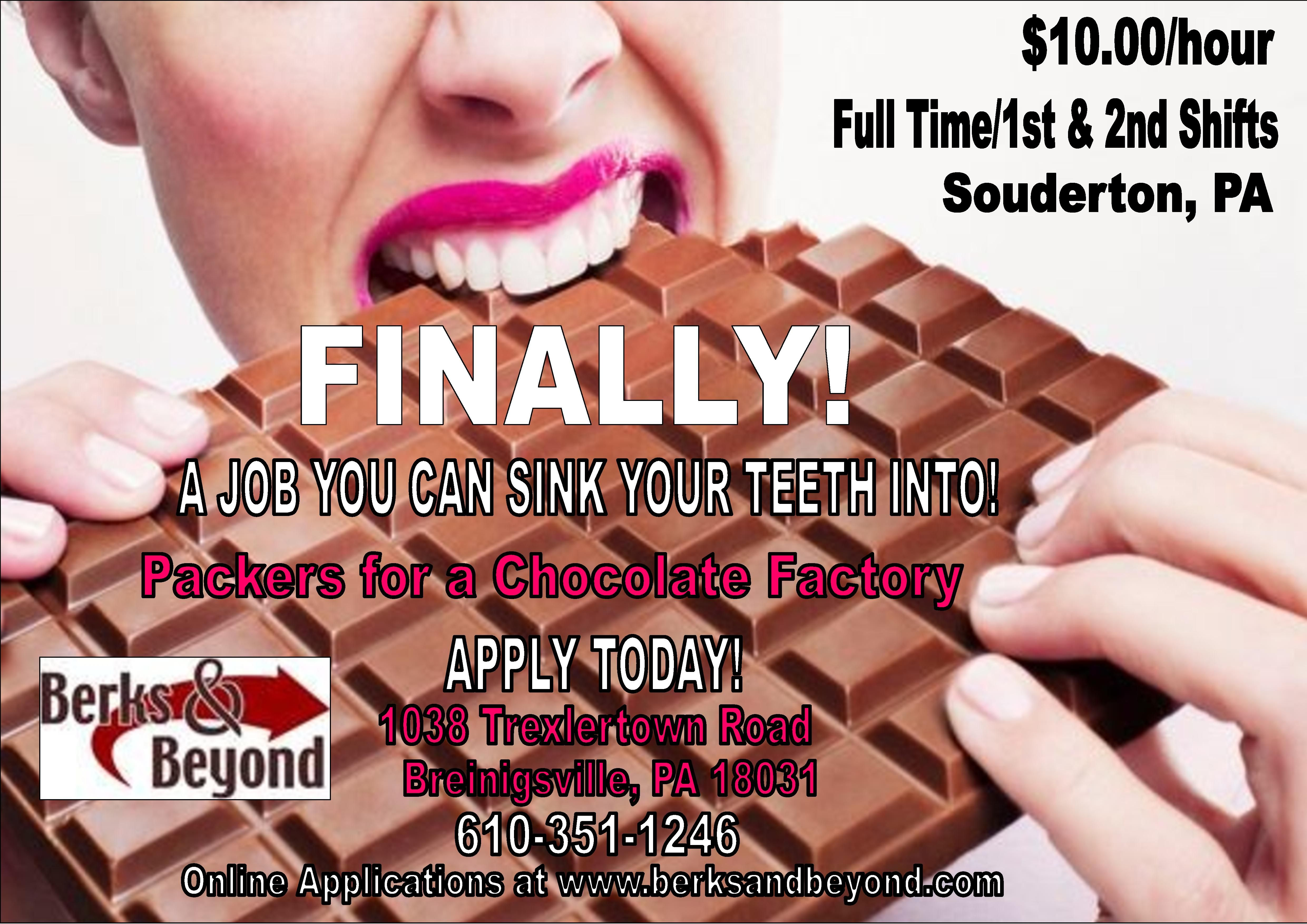 Hiring for 1st and 2ndshift packers for a souderton