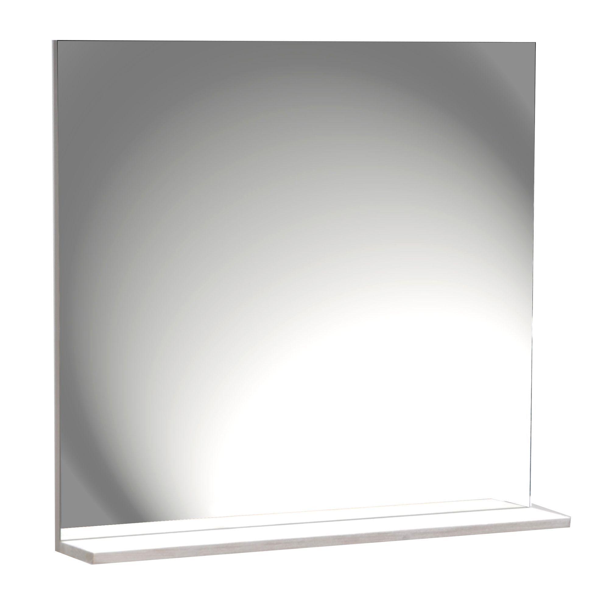 Tablette Salle De Bain 80 Cm miroir avec tablette 80cm gris - marine bain - les miroirs