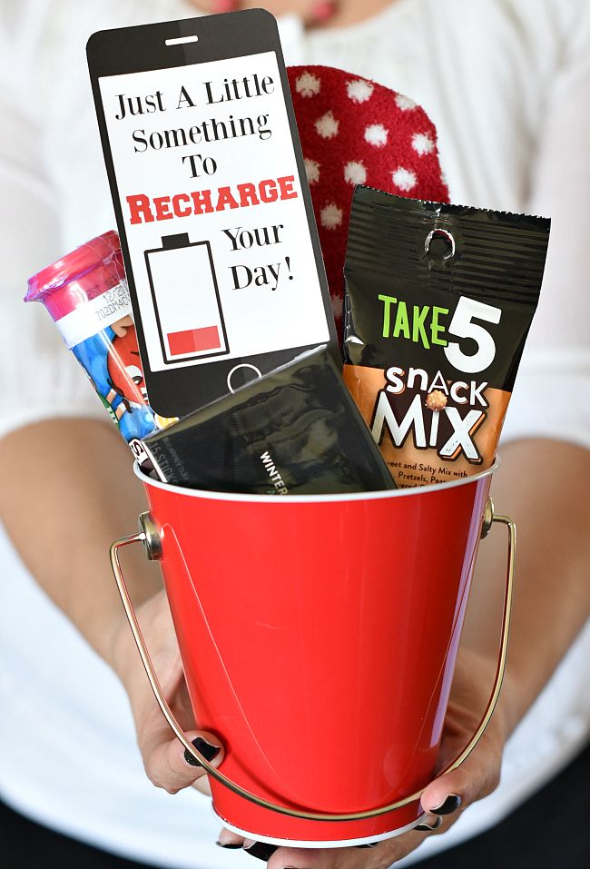 Just Because Gift Idea Recharge Your Day Fun Squared Cheer Up Gifts Cute Gifts For Friends Staff Appreciation Gifts