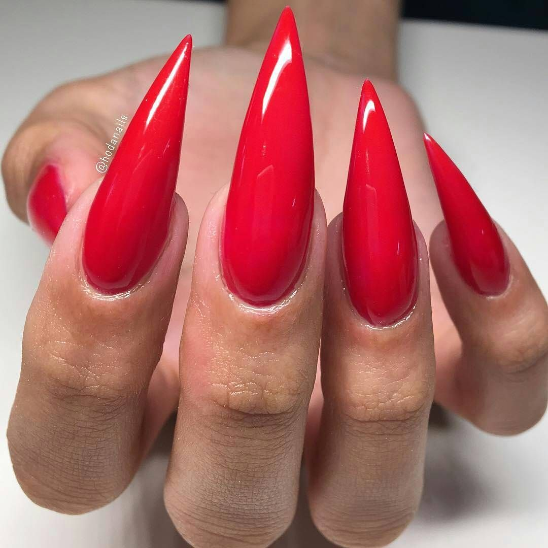 Quartierlvtin Red Stiletto Nails Long Red Nails Stilletto Nails