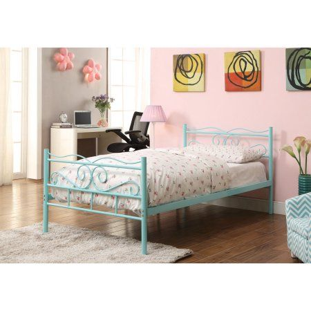 Coaster Bailey Metal Bed Twin Metal Bed Finished In Mint Green