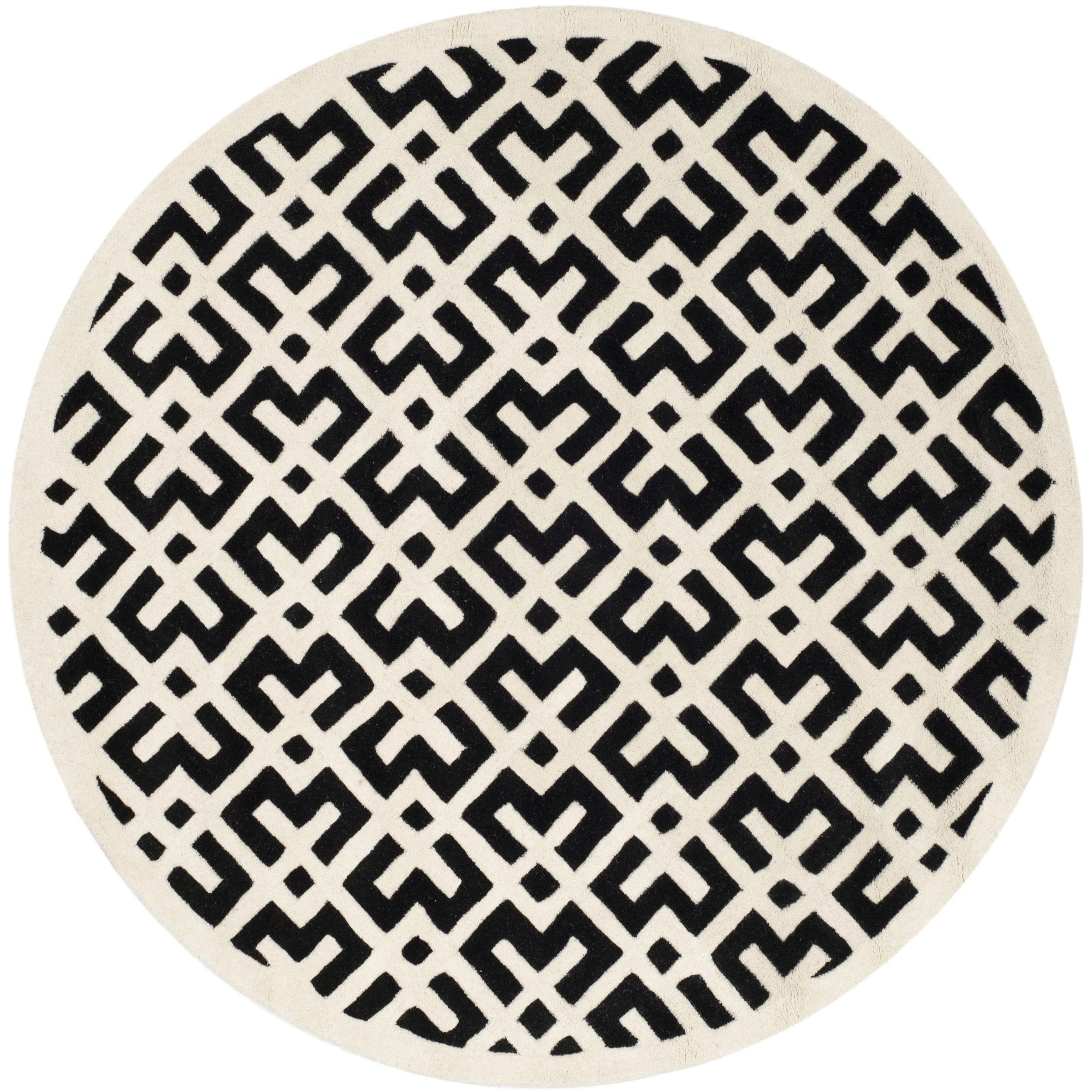 Safavieh Handmade Moroccan Chatham Black Wool Rug (6 6 X