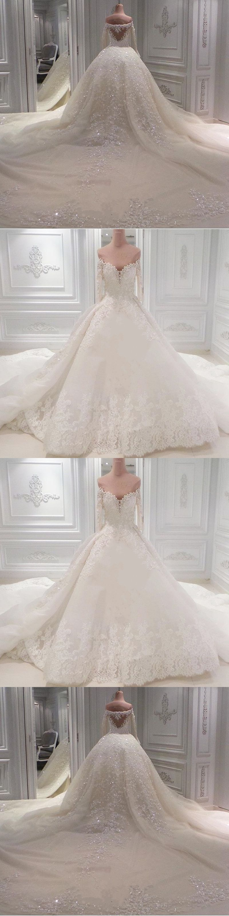 exquisite wedding dresses sweetheart long sleeves beaded bridal