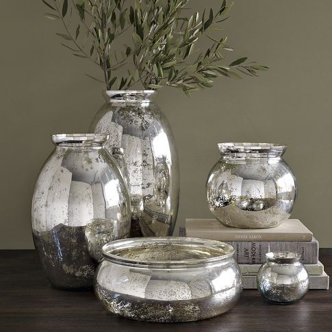 Mercury-Glass Vases | Mercury glass, Glass and Spray painting