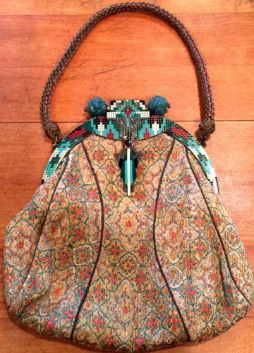 Art Deco Vintage Tapestry Enamel Marcasite Jade Bag in Clothing, Shoes & Accessories, Vintage, Vintage Accessories, Handbags, Purses, 1920-38 (20s, Depression) | eBay