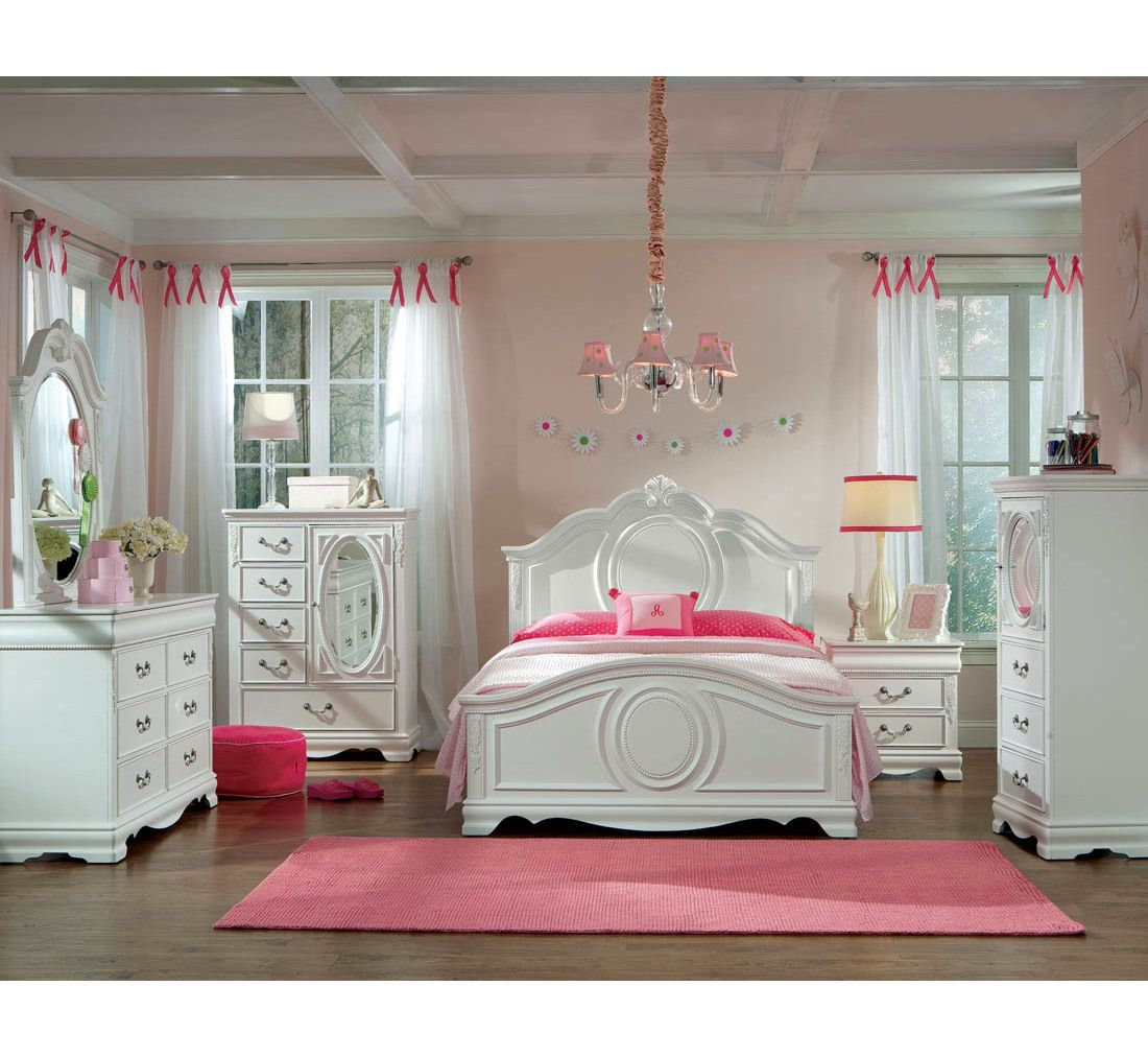 Grace 5 Pc Youth Full Bedroom Girls Bedroom Sets Girls Bedroom Furniture Sets Girls Bedroom Furniture