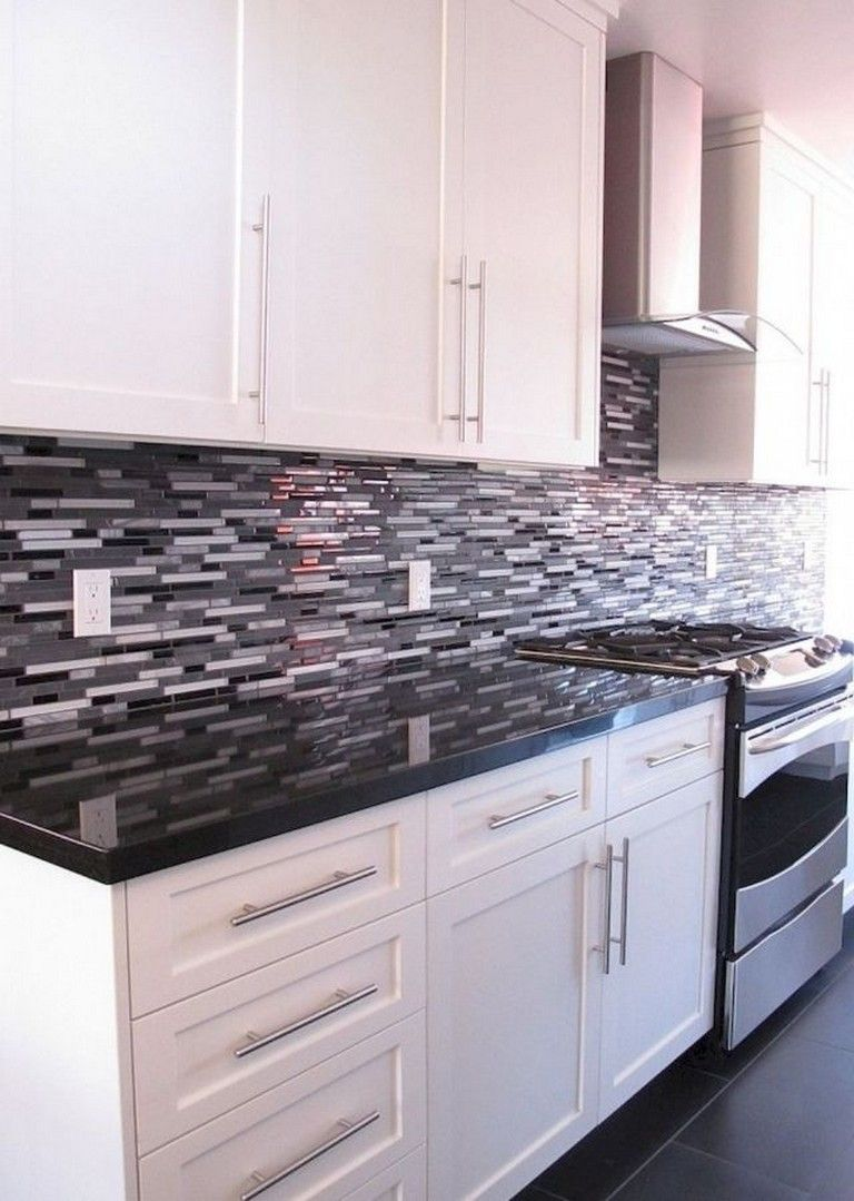 80 Beautiful Kitchen Backsplash Decor With Dark Cabinets White