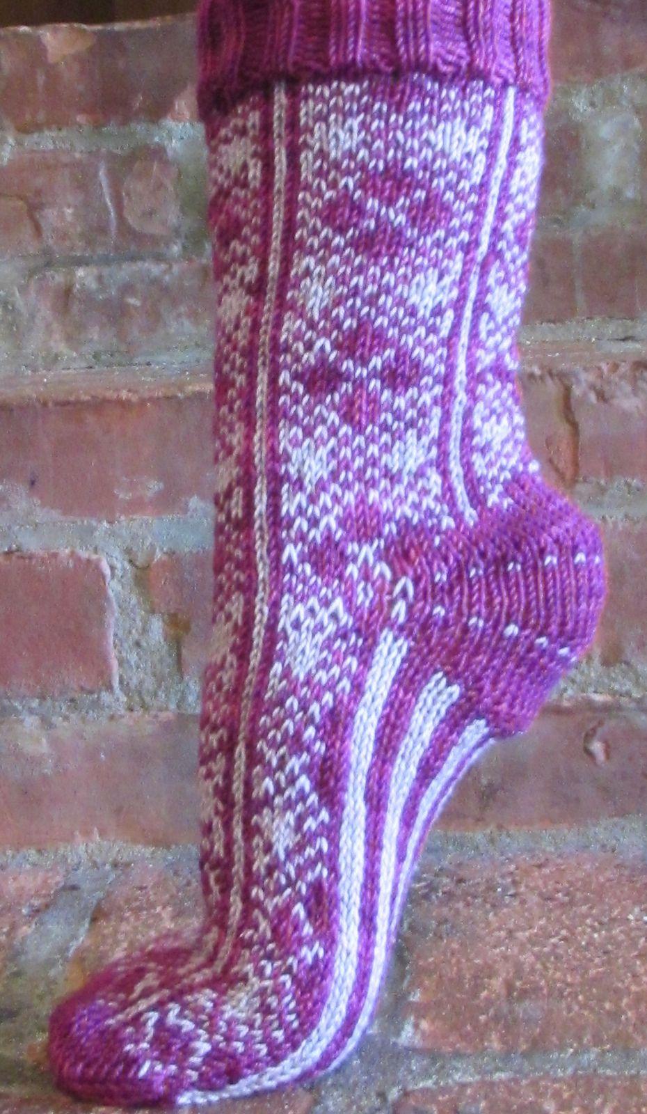 Ravelry: Argylish: Le modèle chaussette par Deborah Tomasello
