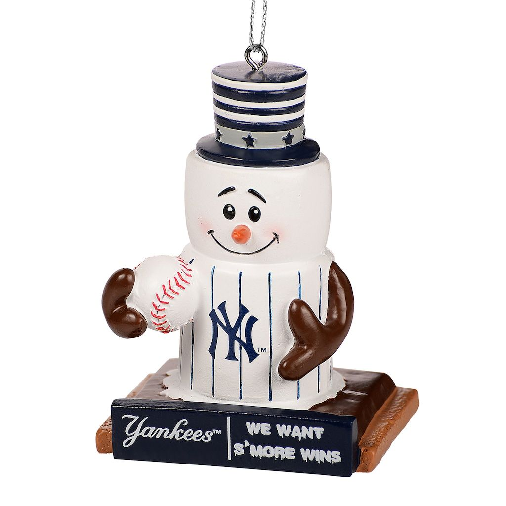 forever collectibles new york yankees smore snowman christmas ornament
