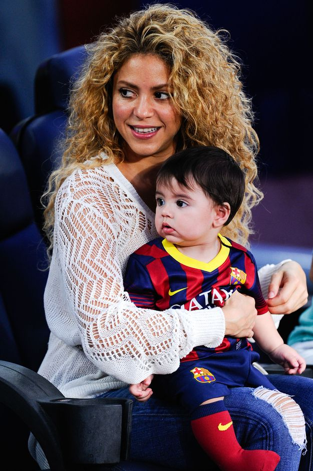 She was three months pregnant with her son Milan when she recorded her last studio album.   17 Things You Probably Didn't Know About Shakira - Awhhh lil Mila!! I love that boy <3