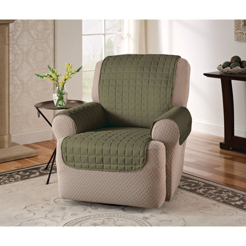 Innovative Textile Solutions Microfiber Recliner Wingback Chair Protector - MFRECLWIBURGUNDY
