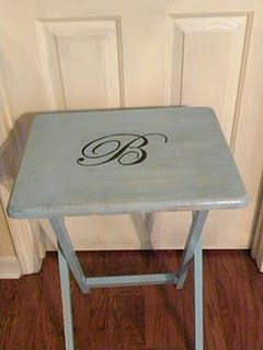 TV Tray Redo -- I have a set of these. I planned to sell them in ...