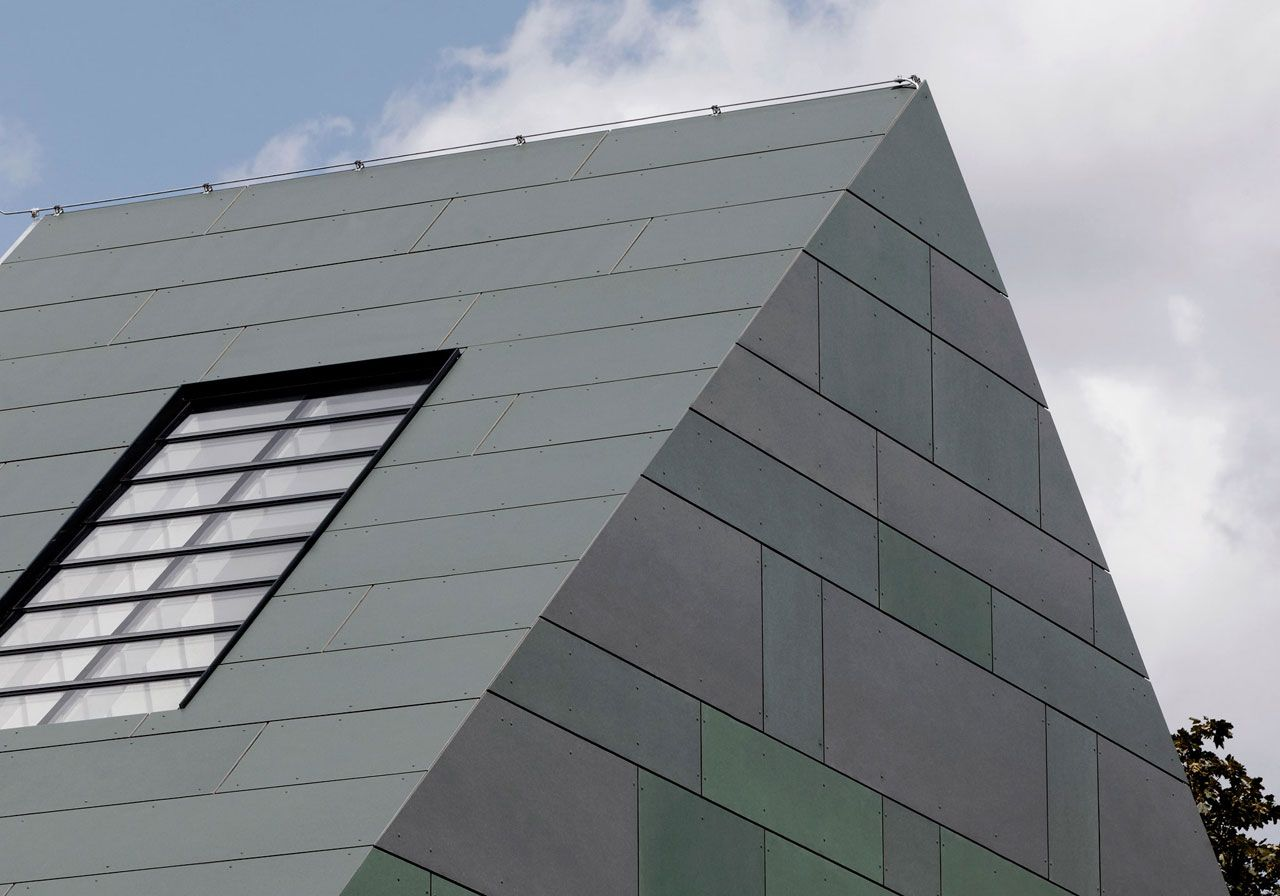 Monolithic concept. EQUITONE facade panels applied on ...