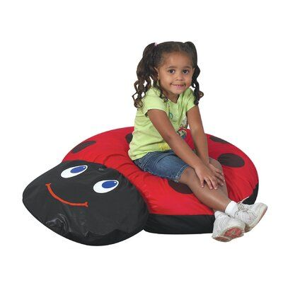 Astonishing Factory Childrens Ladybug Bean Bag Chair Childrens Alphanode Cool Chair Designs And Ideas Alphanodeonline
