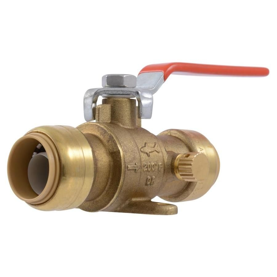 Sharkbite Brass 3 4 In Push To Connect Ball Valve 24616lfzc In