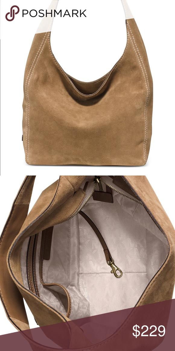de1511d6864e Michael Kors Lena Suede Shoulder Bag Sale! New with Tag. Lena Large Suede Shoulder  Bag. Michael Kors Bags Shoulder Bags