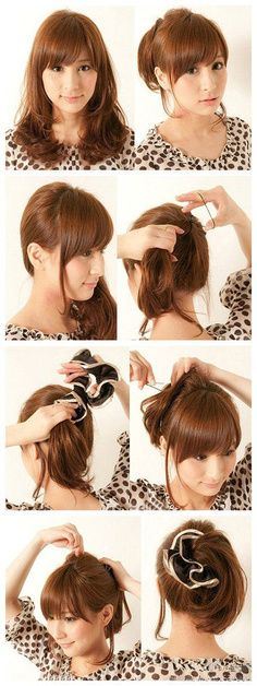 Japanese style ponytail #hair #pictorial | Hair Pictorial