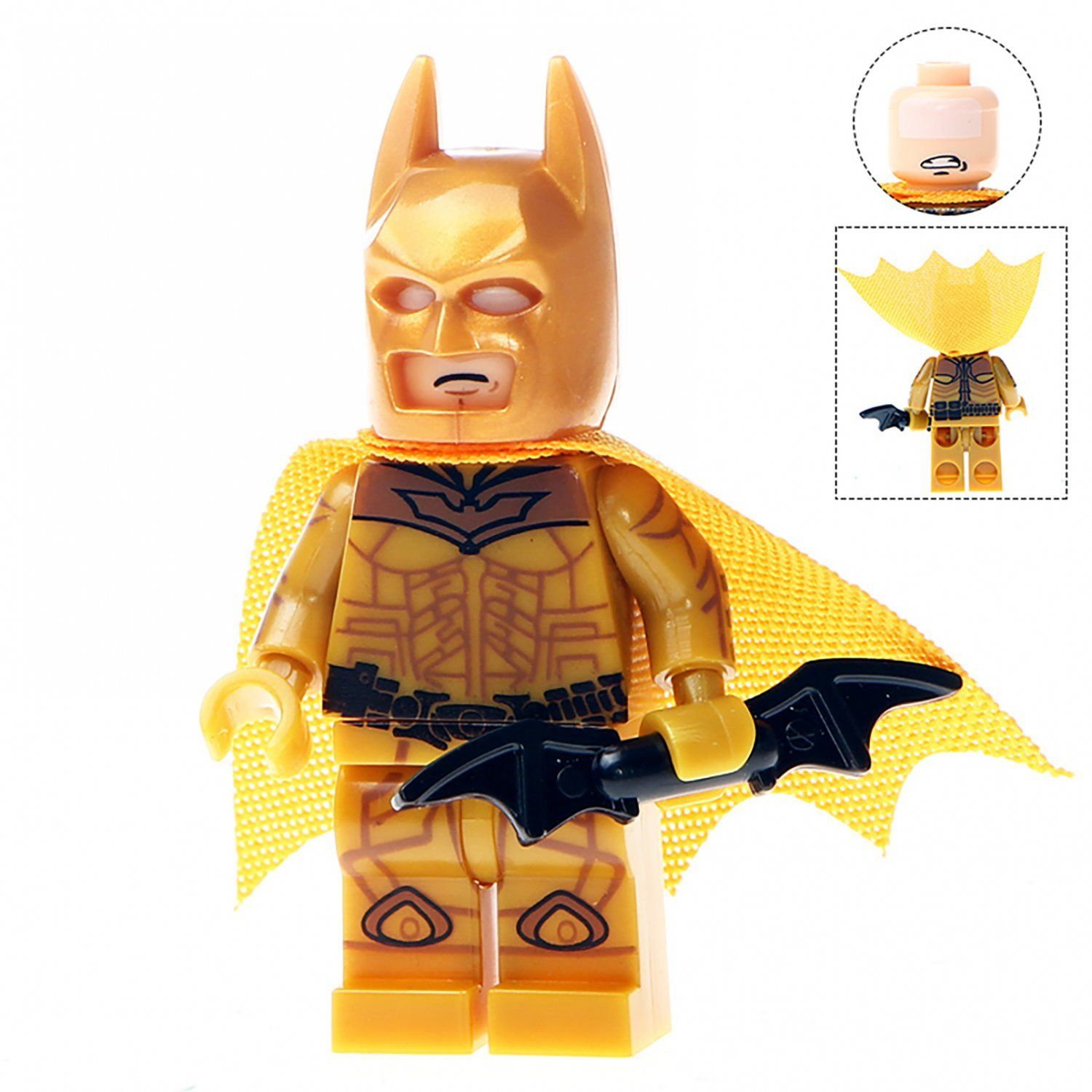 Minifigure Gold Batman Dark Knight Dc Comics Super Heroes