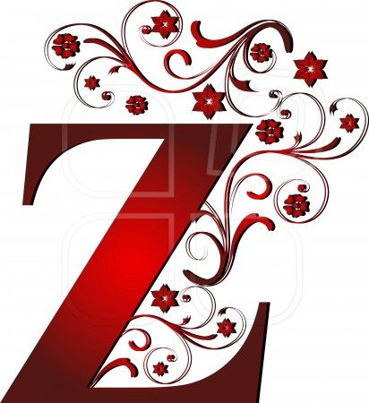 capital letter Z red, abstract, alphabet, alphabetic   Paint The