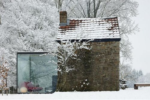 old and new... and snow.