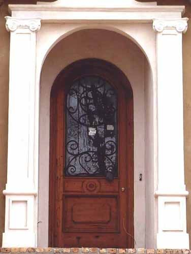 Single Front Doors custom wood with iron single entry door. | تصميمات أبواب door