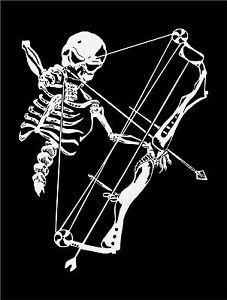 Skeleton Hunting Bow Deer Hunter Car Boat Truck Window Vinyl Decal - Bow hunting decals for trucks