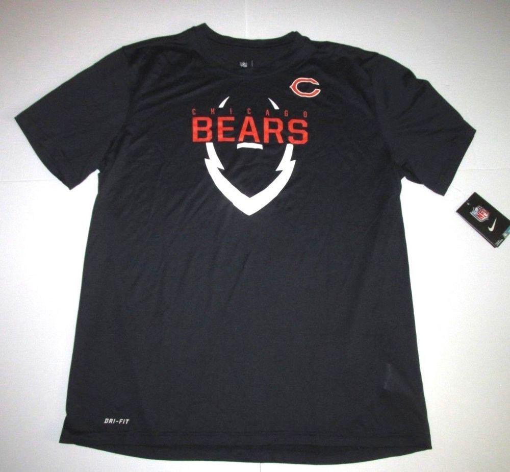 2473f7d8 Nike NFL Chicago Bears Icon Dri-FIT Shirt Mens XL Navy #Nike ...