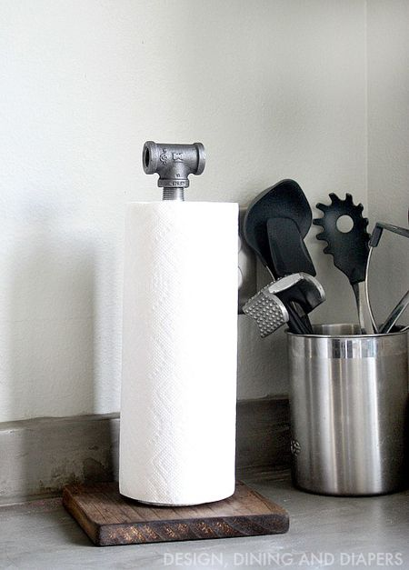 Porta Rollo De Papel Industrial Manualidades Industrial Decor Diy Industrial Paper Towel Holders Rustic Industrial Decor