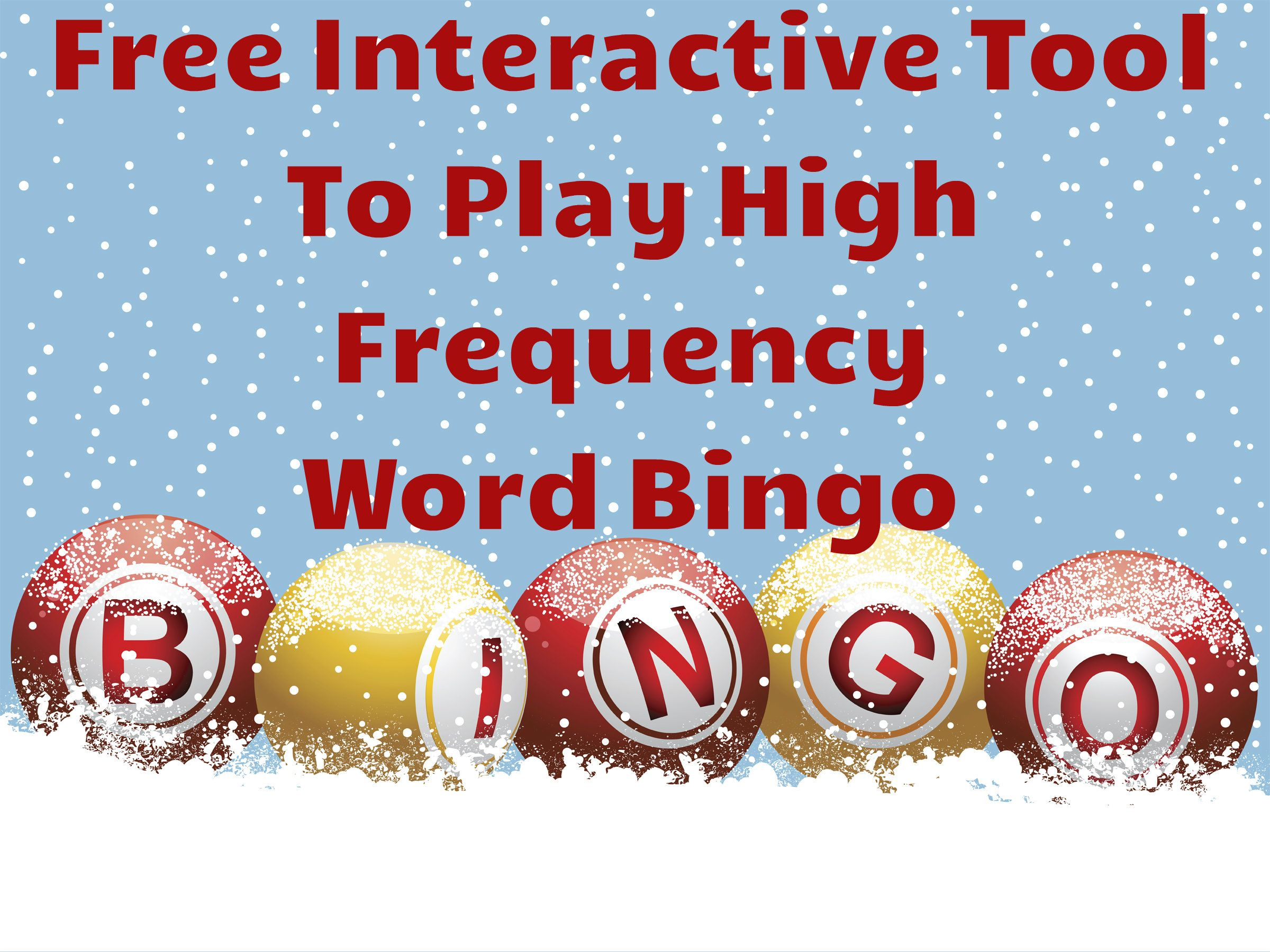 Free Interactive Tool To Play Sight Word Bingo This Is A