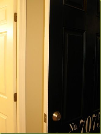 Tutorial on how to paint (only only one side of) door black w/o ...