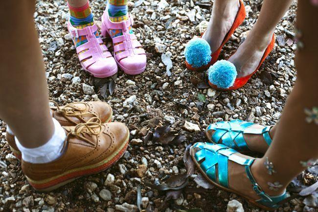 Cute pompom shoes!