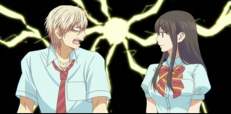 siempre peleando esta pareja xd kudo hozuki anime kono oto tomare 2019 アニメ この音とまれ 2019 parejas de anime pareja manga chica anime
