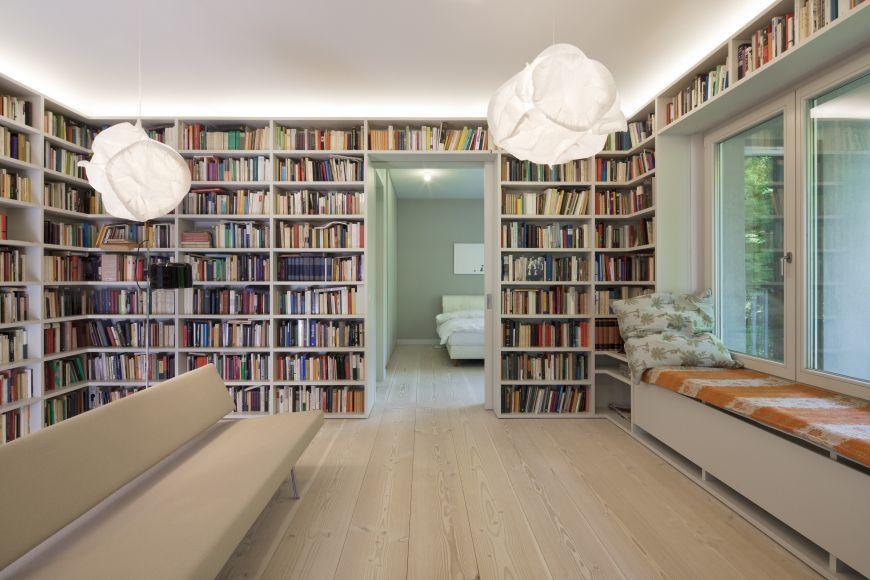 bibliothek wohnen am wei en see haus c wohnanlage mit f nf mehrfamilienh usern new. Black Bedroom Furniture Sets. Home Design Ideas