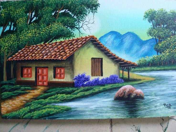 Paisajes tipicos costarricenses en oleo buscar con - Cuadros para pintar en casa ...