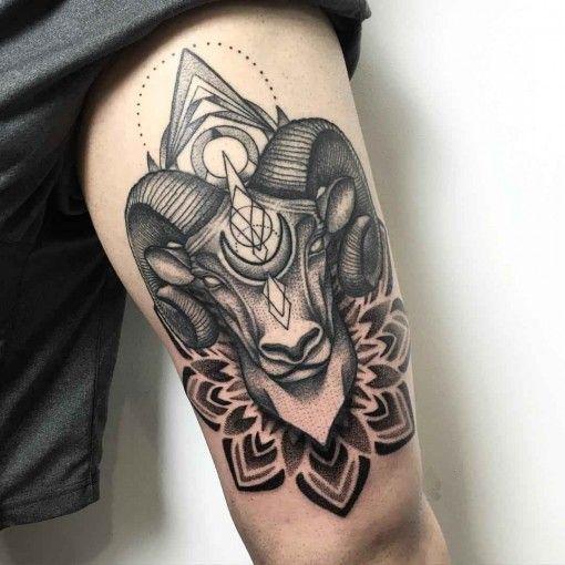 a6e5bd4c4 Ram Tattoo | tattoos | Ram tattoo, Zodiac tattoos, Aries ram tattoo
