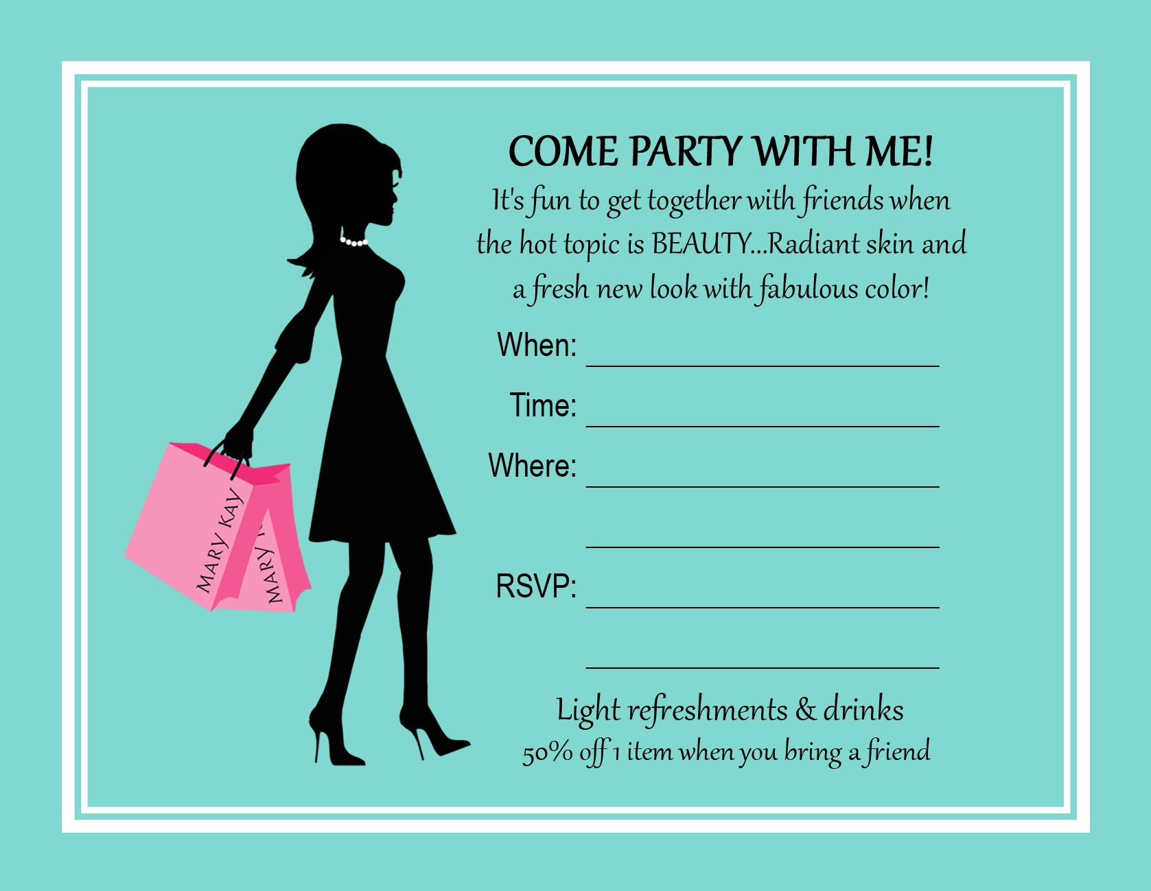 Printable Mary Kay Party Invitations. Mary Kay Party Invitations ...