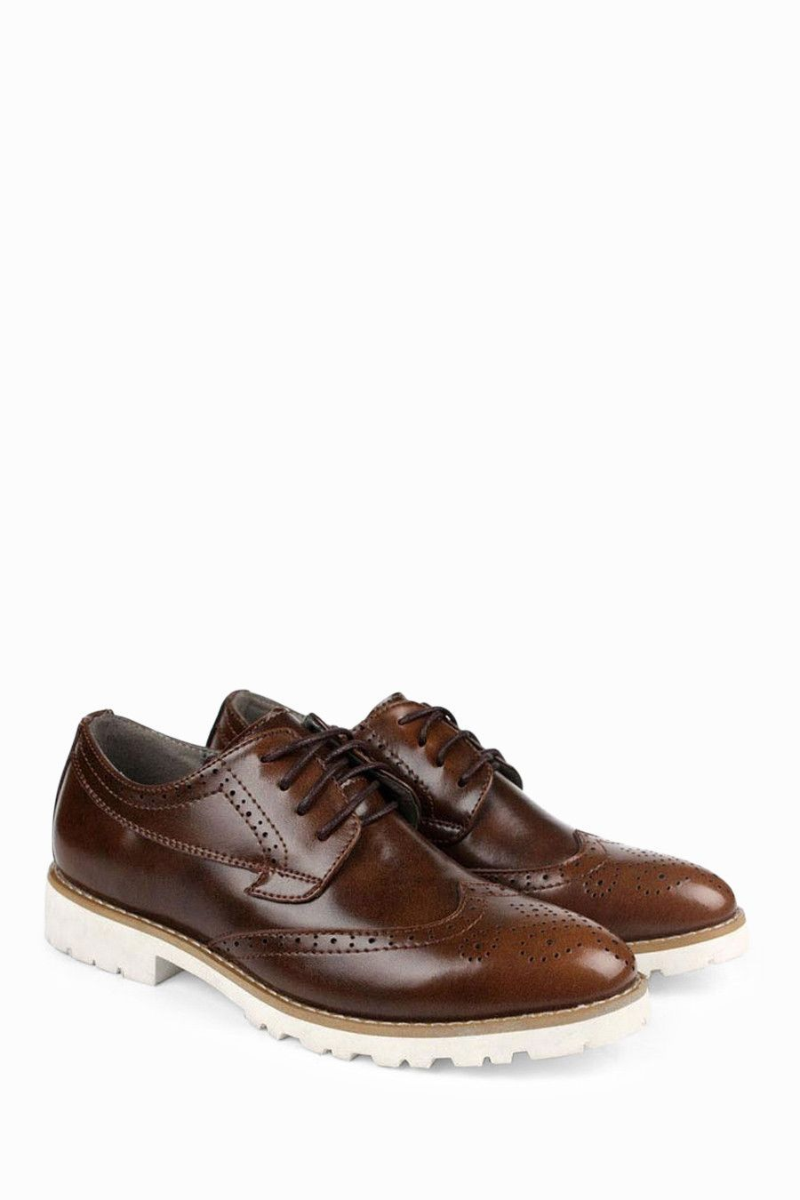 Patent leather dress shoes in dark brown leather dress shoes