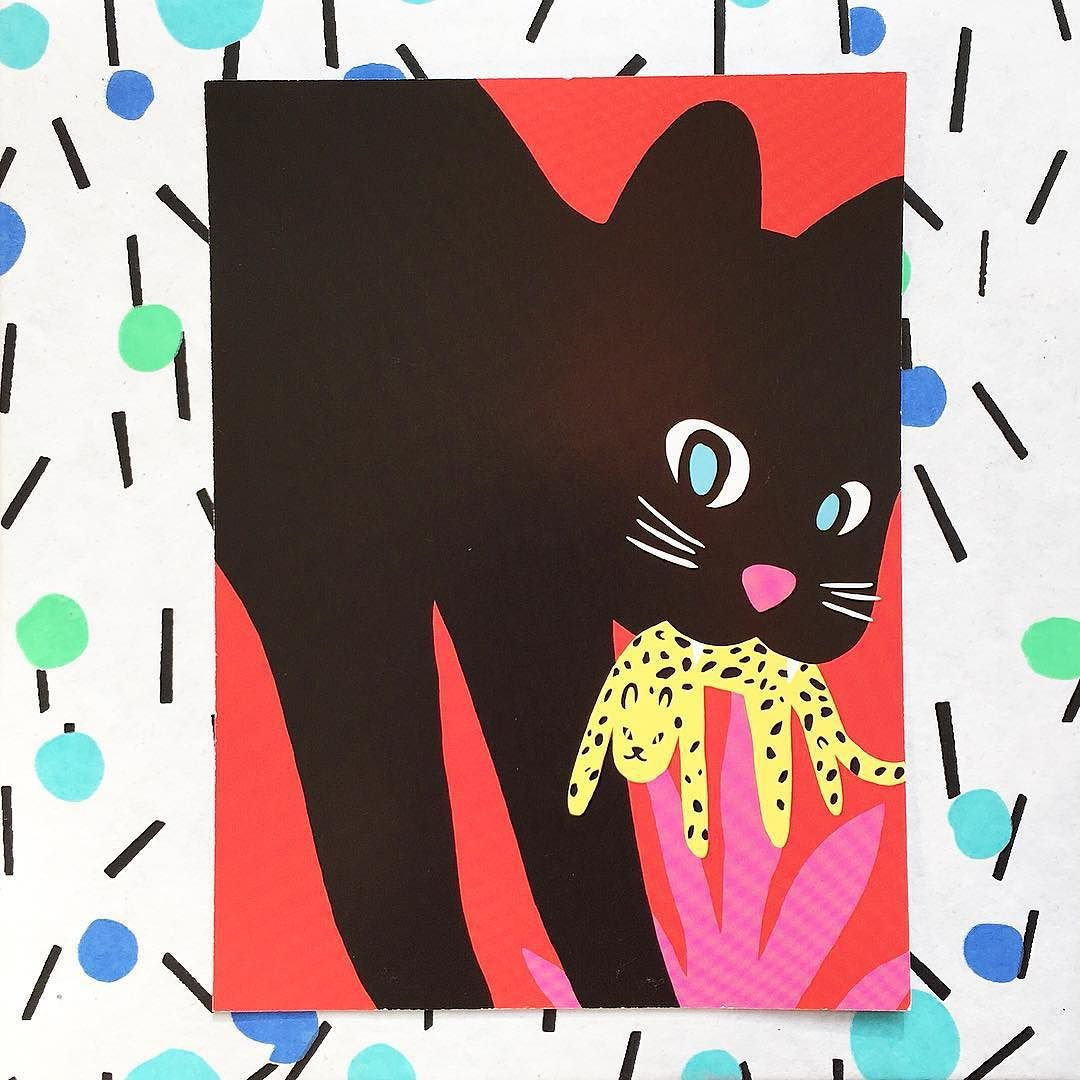 Just found this amazing print by @jessdas  for @somersethouselondon I bought last year and squirrelled away. Going up on the wall immediately! #illustration #catsofinstagram #catstagram