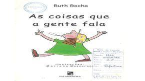 As Coisas Que A Gente Fala Ruth Rocha Com Imagens Literatura