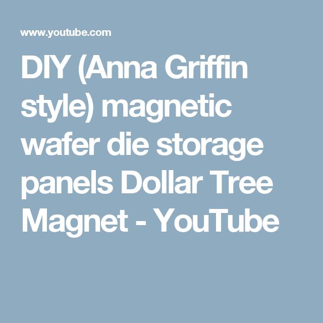 DIY (Anna Griffin Style) Magnetic Wafer Die Storage Panels