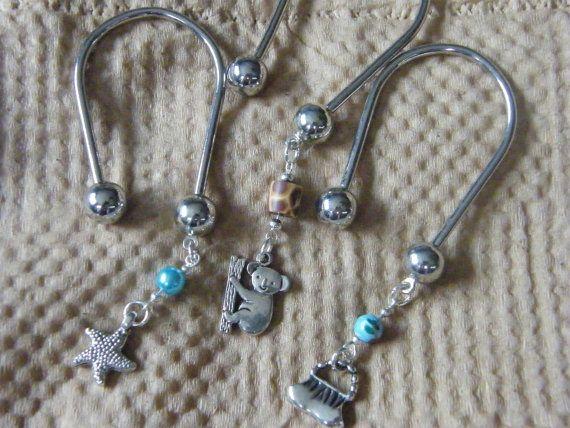 Charm Keychains Starfish Koala Hand Bag Silver by DaKsJewelry