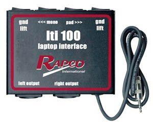 Rapco Lti 100 Pro Laptop Audio Interface Pro Laptop Interface Laptop