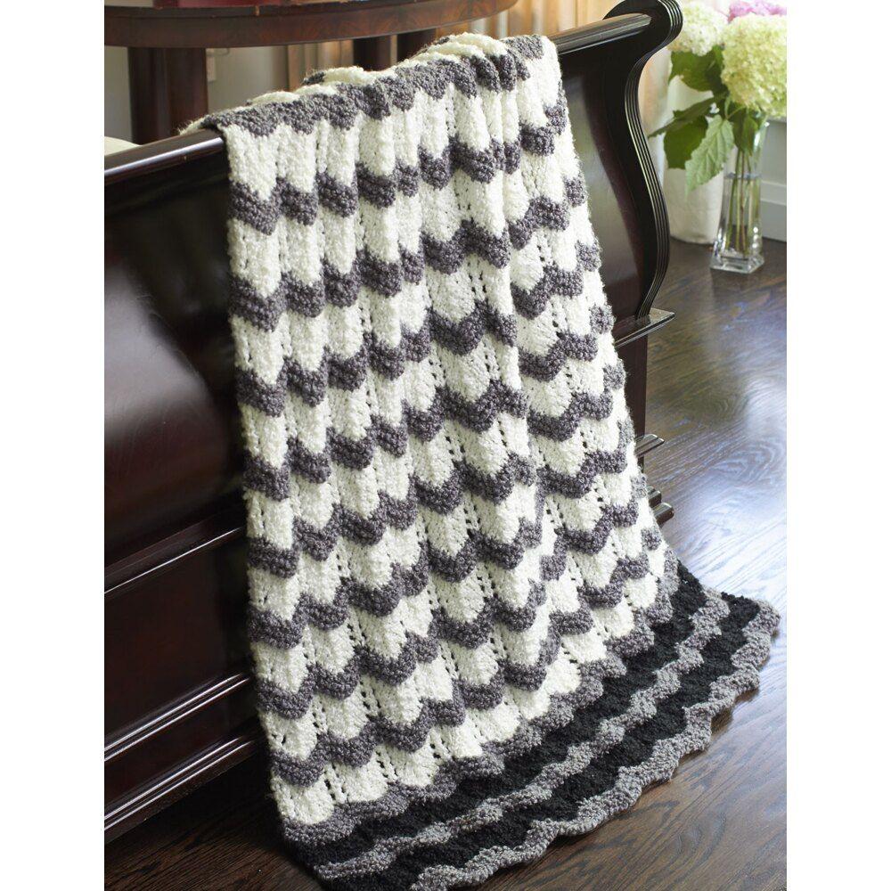 Stone's Throw Ripple in Bernat Soft Boucle   Knitting ...